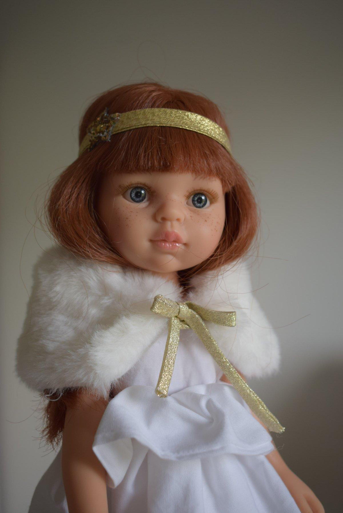 Image of COLLECTION poupées de Noël-BANDEAU ETOILE pour poupée de noël