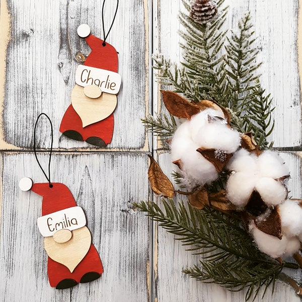 Image of Santa Gnome Personalized Layered Ornaments - Craft at Home Kit