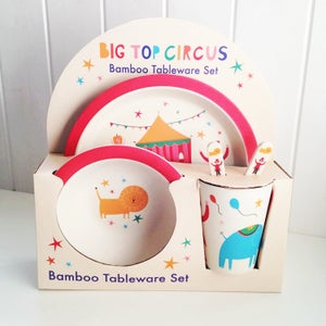 Image of Big Top Circus Bamboo Mealtime Set
