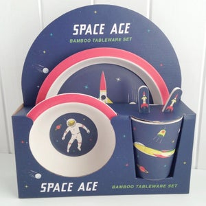 Image of Space Age Bamboo Mealtime Set