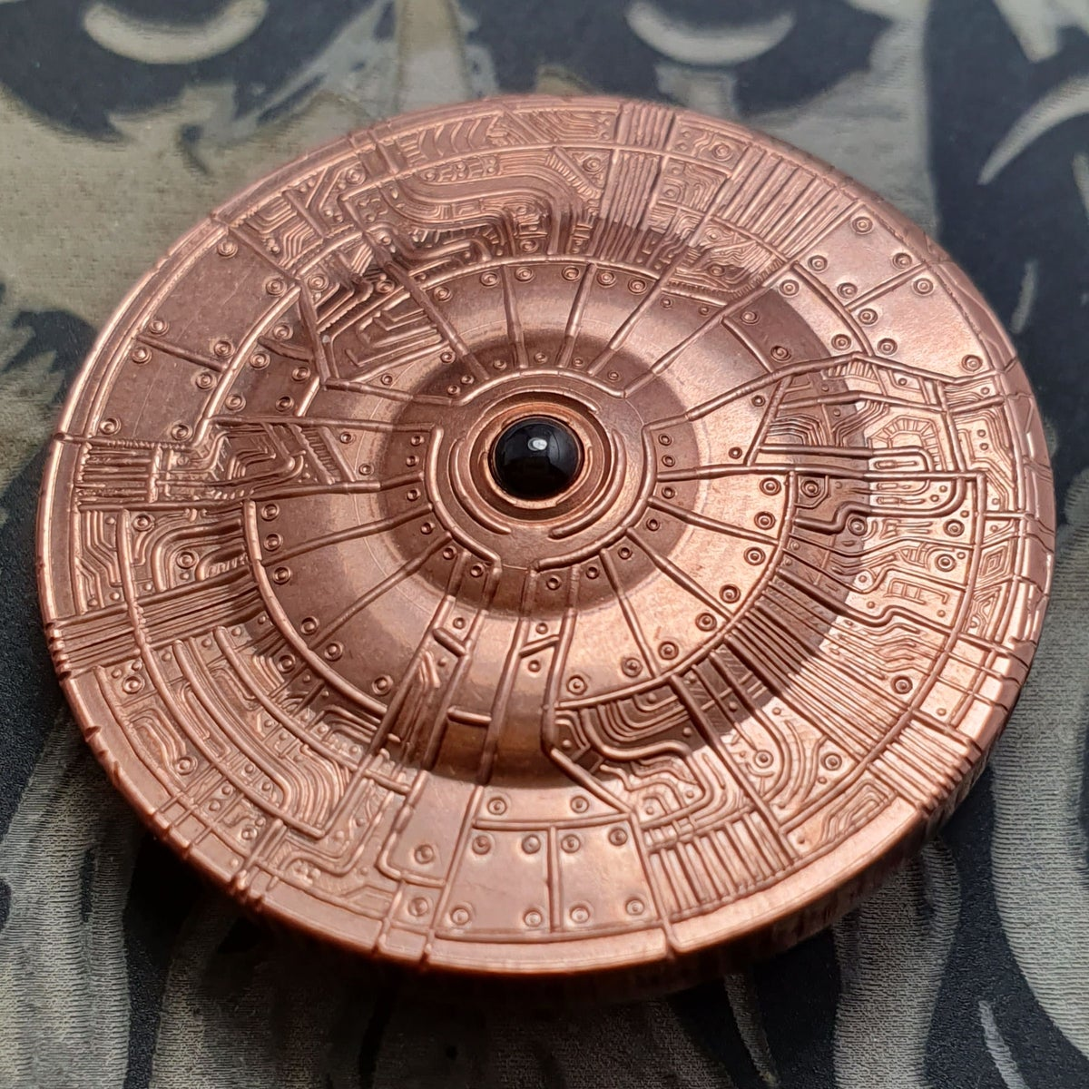 Copper SpaceSchipp3 with Reeded Edge