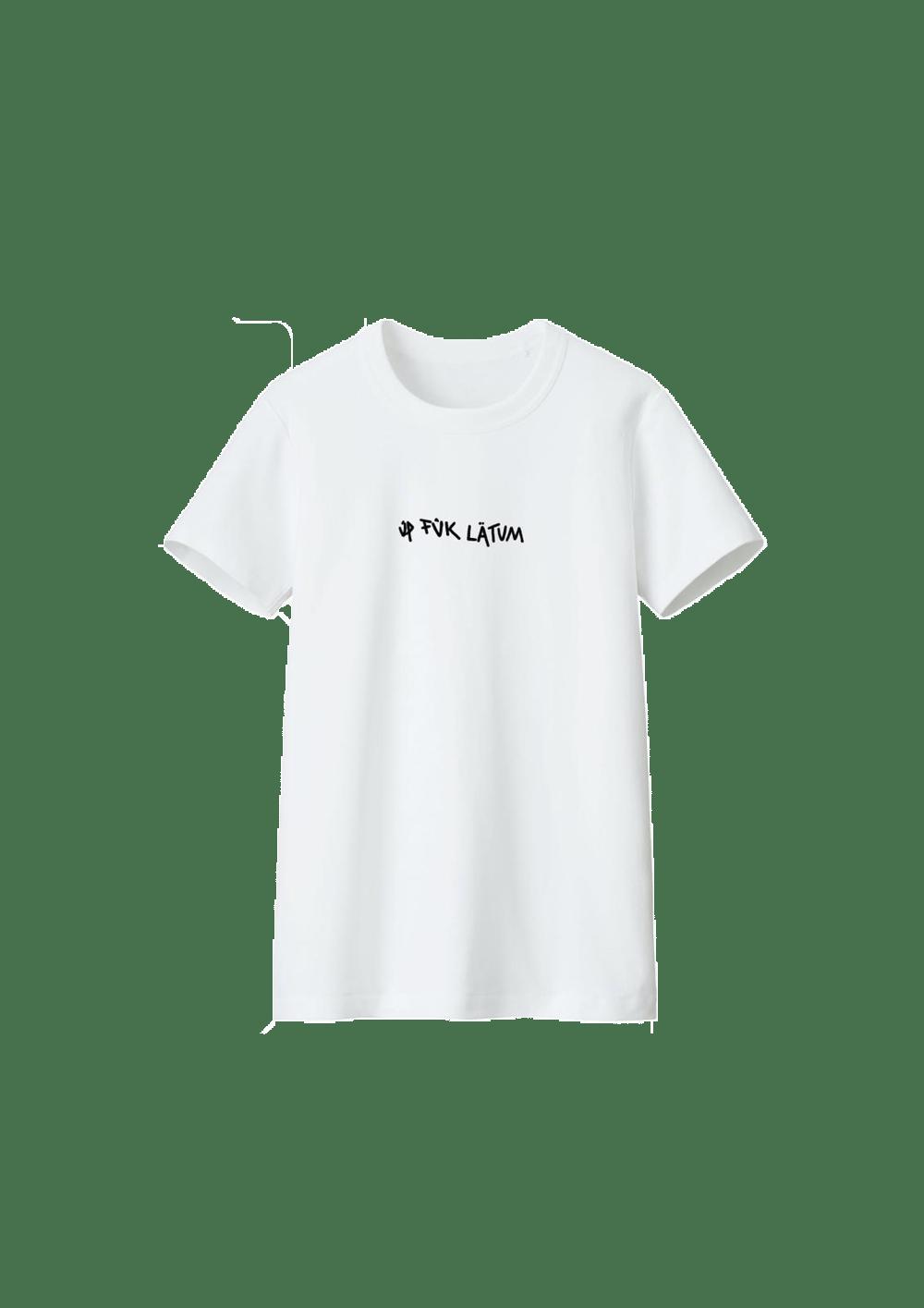 Image of Up FÜk Latum T-shirt (White)