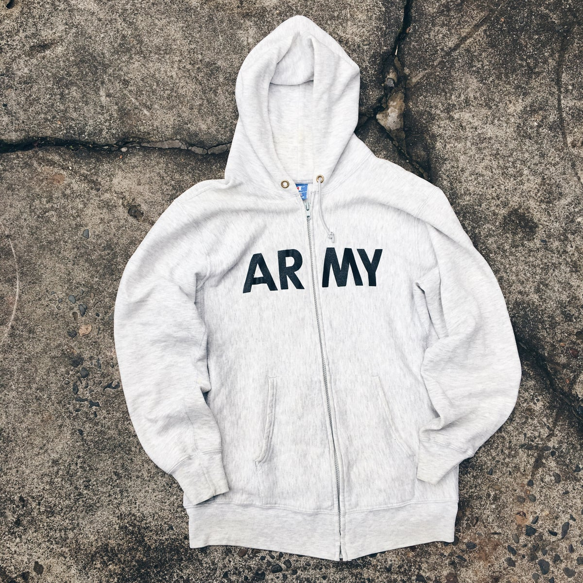 Image of Original Late 80's Champion Army Zip-Up.