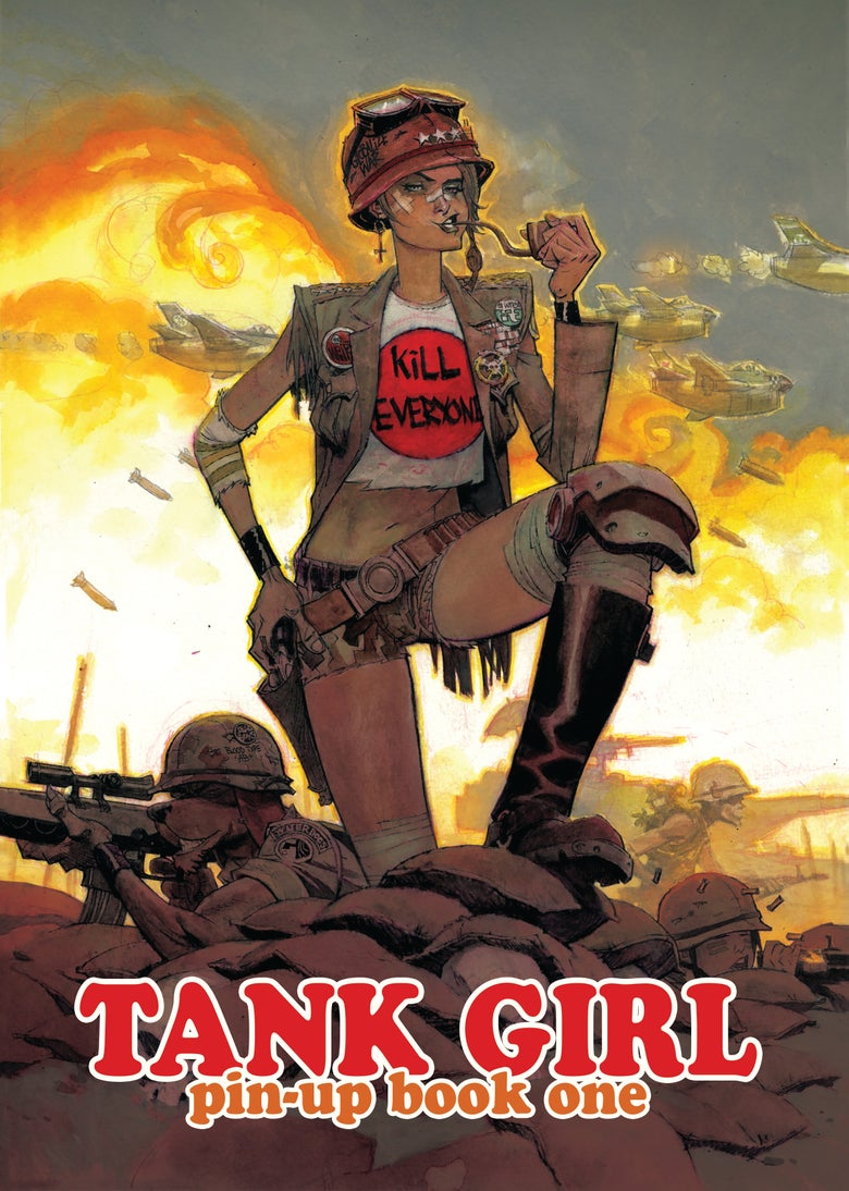 Image of Tank Girl Pin-Up Book One - with signed Greg Staples Print!