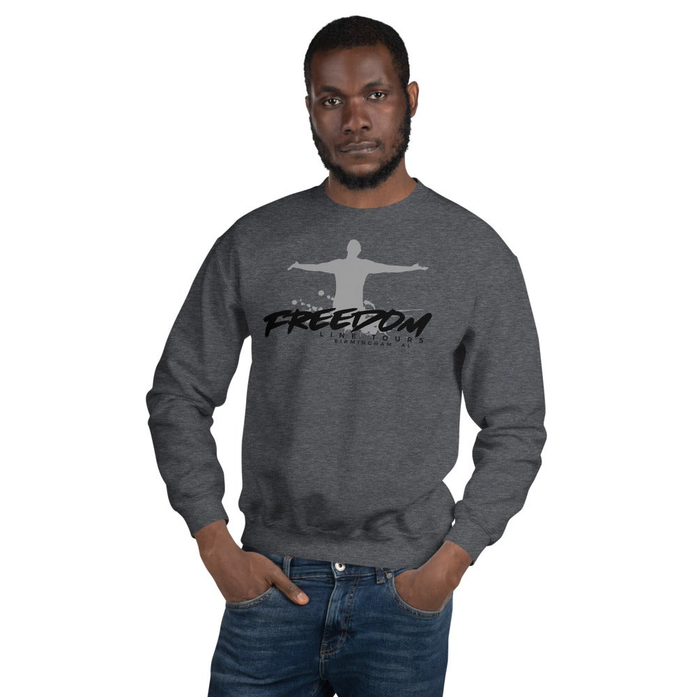 Image of Gray company sweatshirt