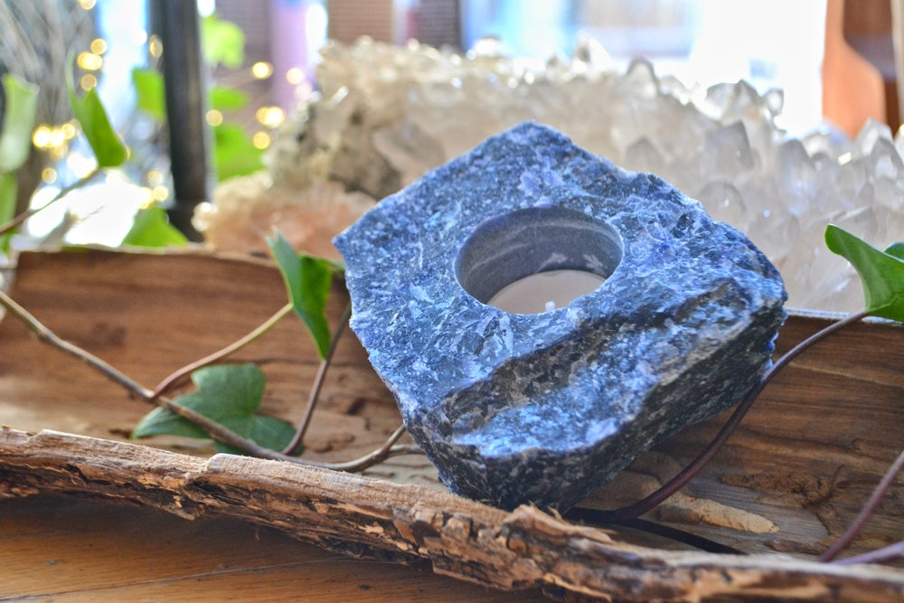 Image of Sodalite tea light holder