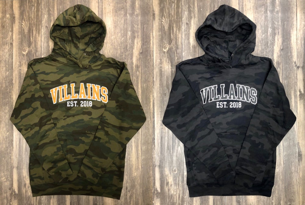 Image of Limited edition Camo VILLAINS EST hoodies