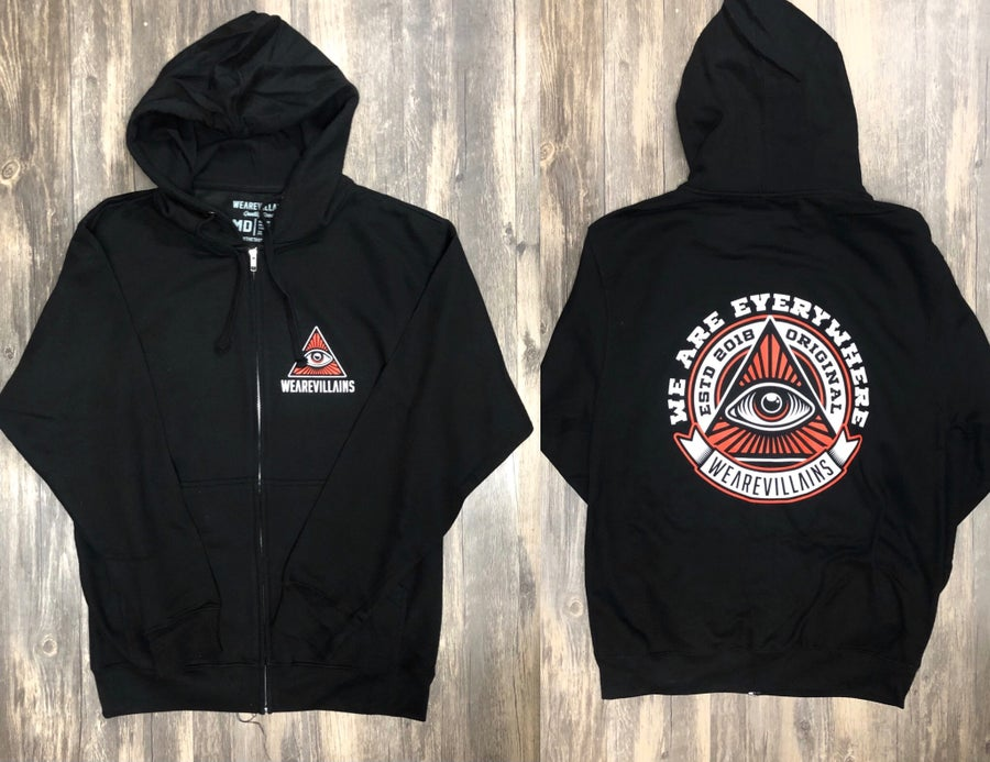 Image of WE ARE EVERYWHERE zip up hoodie