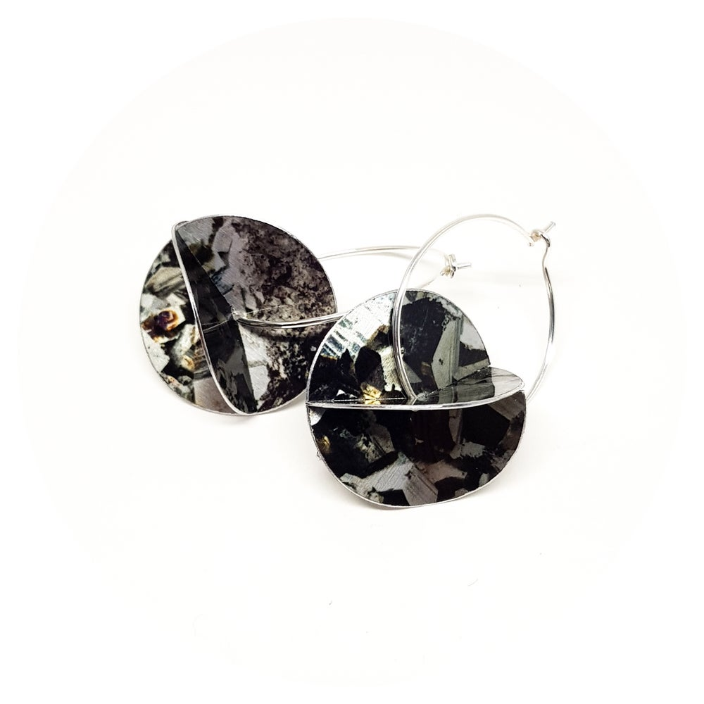 Image of Whirligig Earrings - Pyrite