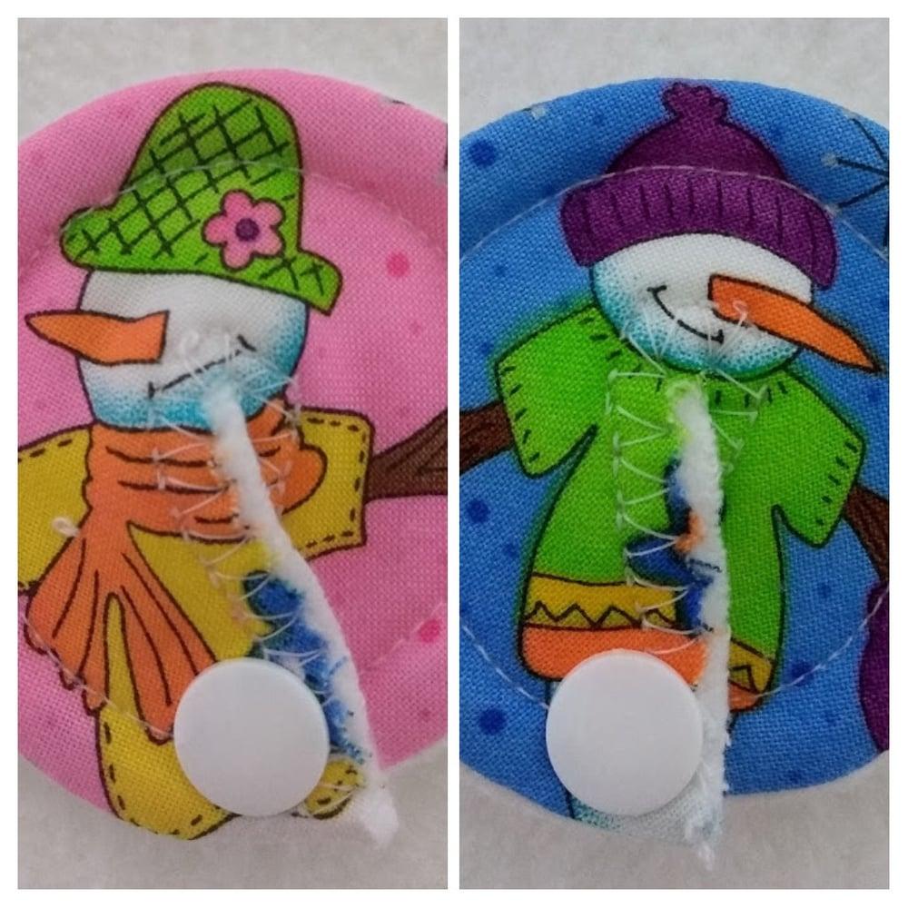 Image of Christmas Snowman & Snowlady Tubie Pads