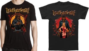 Image of LEATHERWOLF - Smoking Wolf (front) / Little Red Ridinghood w/ Wolf (back)