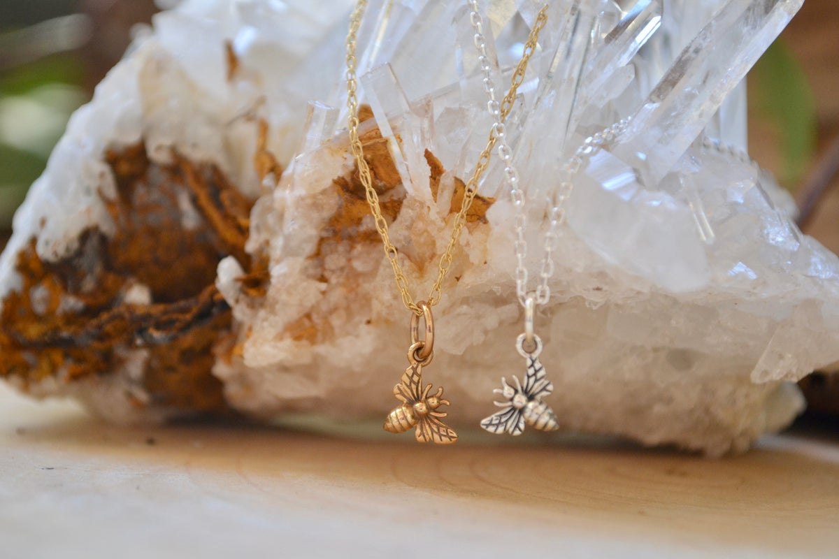 Image of Tiny bee necklace