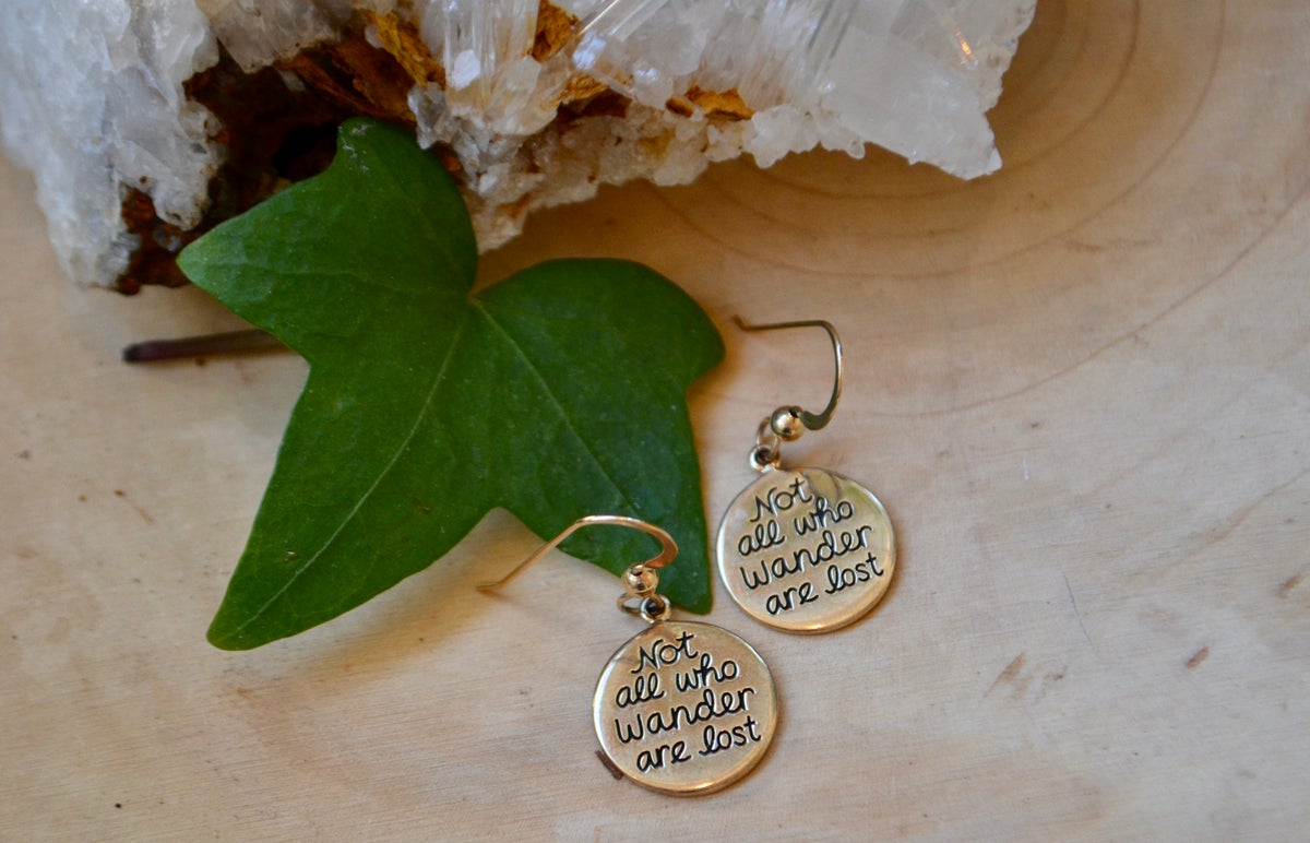 Image of Not all who wander are lost earrings