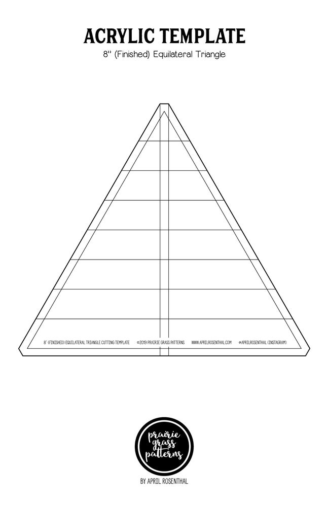 "Image of 8"" Equilateral Triangle Acrylic Template"