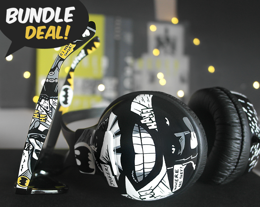 Image of Batman and Joker sunglasses and headphones bundle by Ketchupize