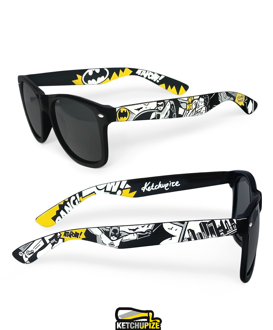 Image of Custom Batman comic sunglasses/glasses by Ketchupize