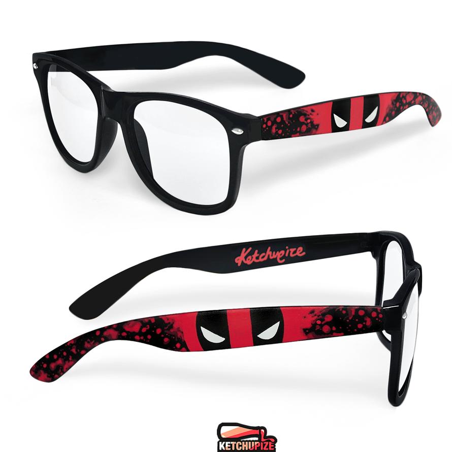 Image of Custom Deadpool splatter sunglasses/glasses by Ketchupize