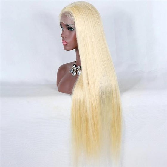 Image of Russian Blonde Straight - Transparent Full (360) Lace Wig