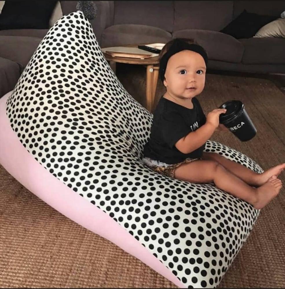 "Image of ""Dot On"" PomPom Beanbag Cover - Kids size"