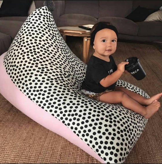 "Image of ""Dot On"" PomPom Beanbag Cover - Kids size"