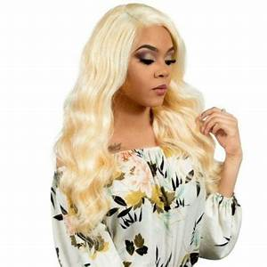 Image of Russian Blonde Body Wave - Transparent Lace Front Wig