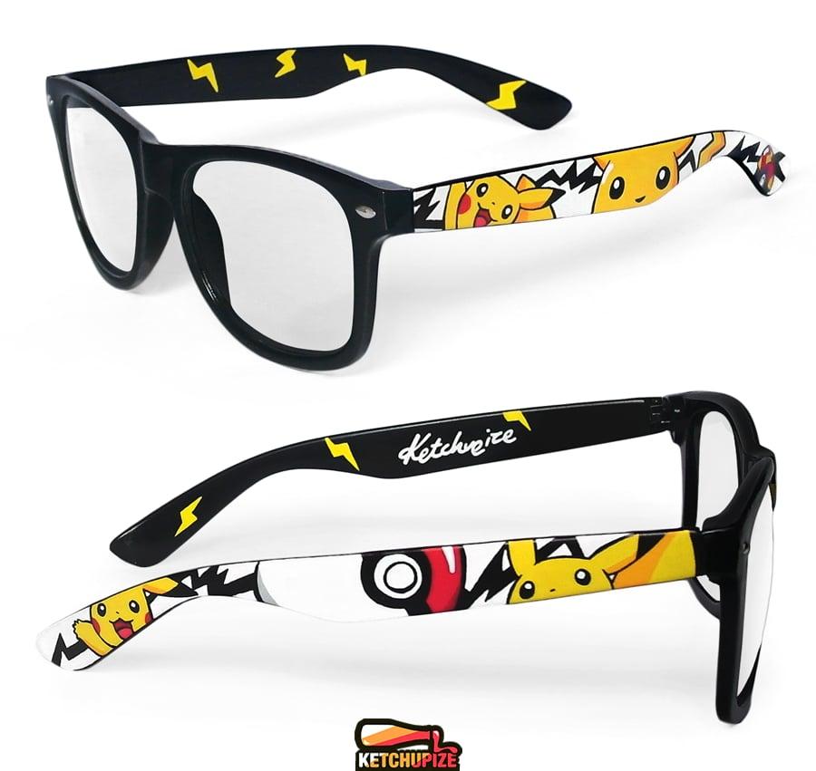 Image of Custom Pikachu Pokemon sunglasses/glasses by Ketchupize