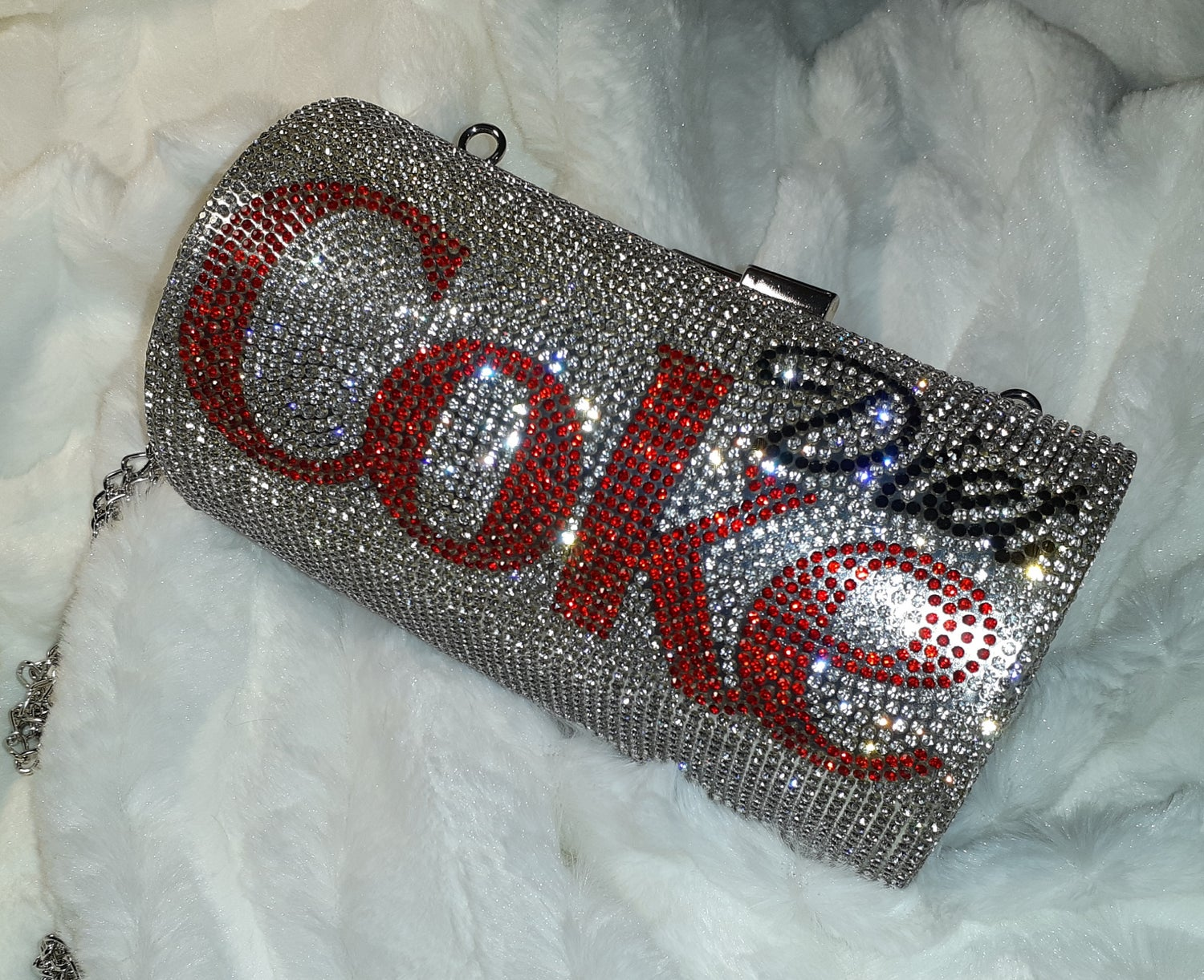 """Image of """"Because I Can"""" diet Coke clutch"""