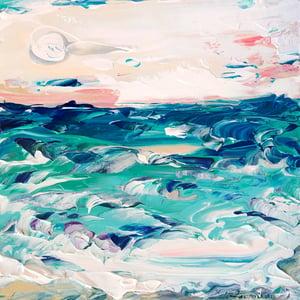 Image of 'Coastal no.50' - 30x30cm - FRAMED