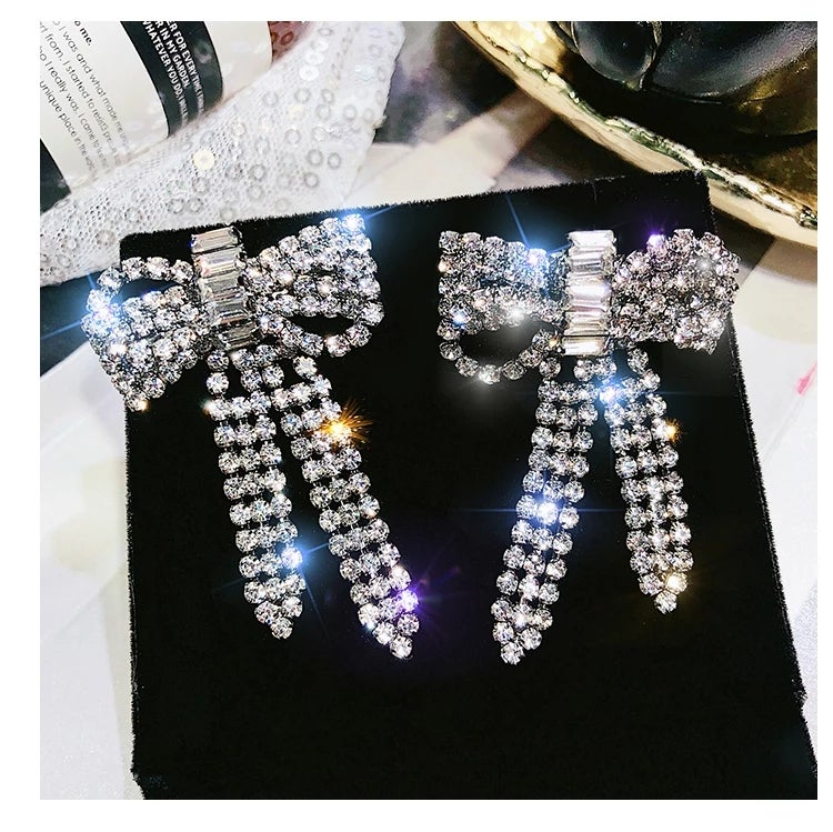 Image of Butterfly bow earrings