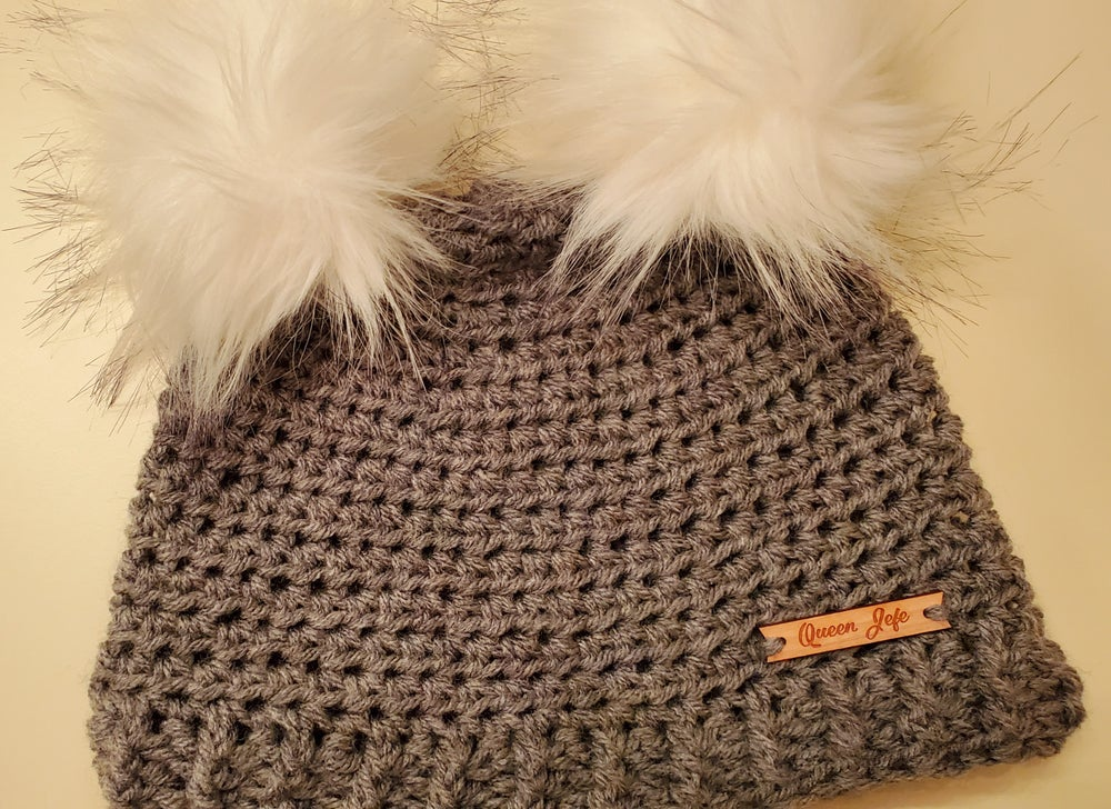 Image of Double Pom-pom Beanie