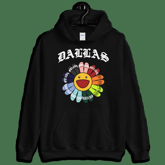 Image of DALLAS FLOWER HOODIE (BLACK)