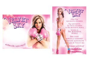 Image of Velvet Sky Kiss Card Holiday Sale!