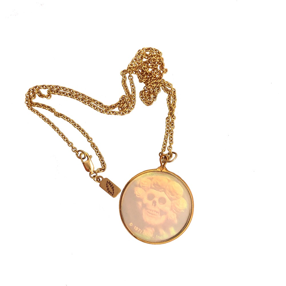 Image of *SOLD OUT* Deadstock 1971 Bertha Hologram Gold Necklace