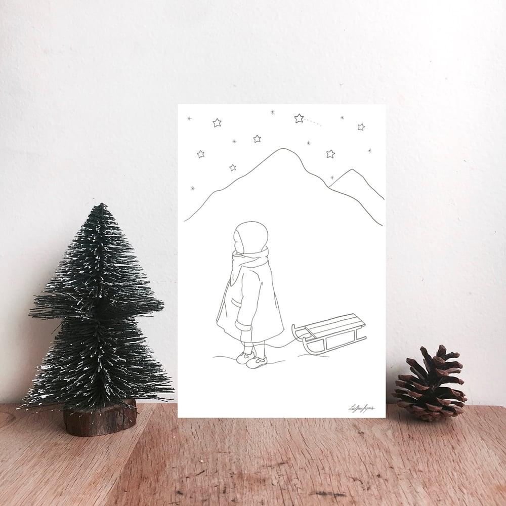 Image of Pack de cartes à colorier Noël