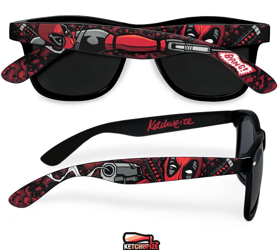 Image of Custom Deadpool comic glasses/sunglasses by Ketchupize