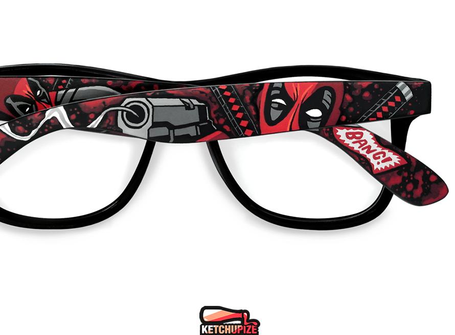 Image of Custom Deadpool comic sunglasses/glasses by Ketchupize