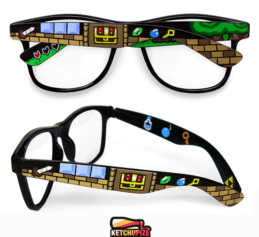 Image of Custom Zelda 8bit sunglasses /glasses by Ketchupize
