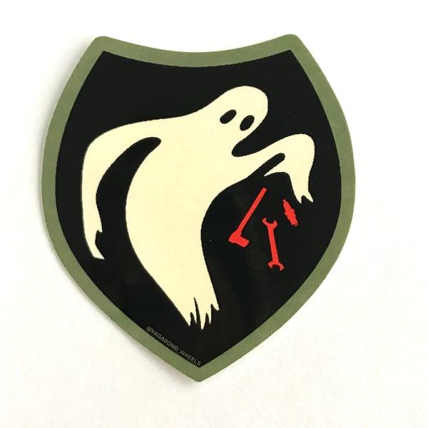 Image of Vagabond Wheels Moto Ghost sticker