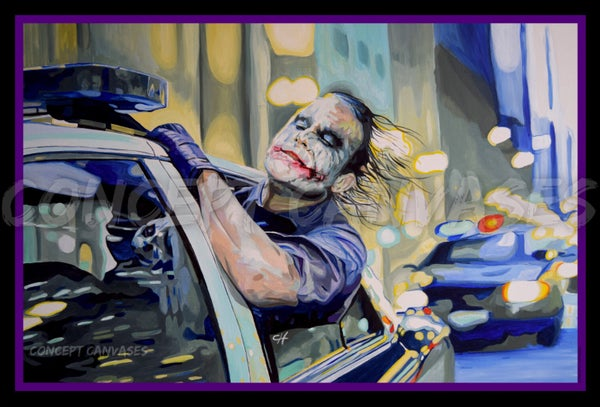 Image of The Joker 'Live Without Rules' A3 Print