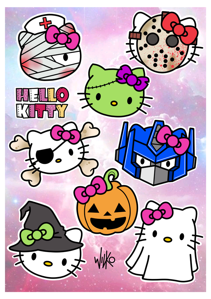 Image of 'Hello(ween) Kitty' Print