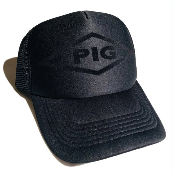 Image of PIG Logo Trucker Black