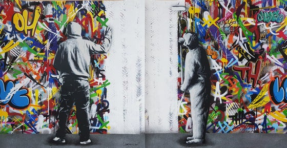 Image of MARTIN WHATSON - THE CYCLE (DIPTYCH) - 120CM X 60CM SCREENPRINT - LTD ED 195