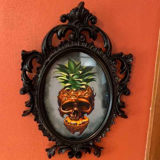 Image of Pre-Framed Skull Pineapple