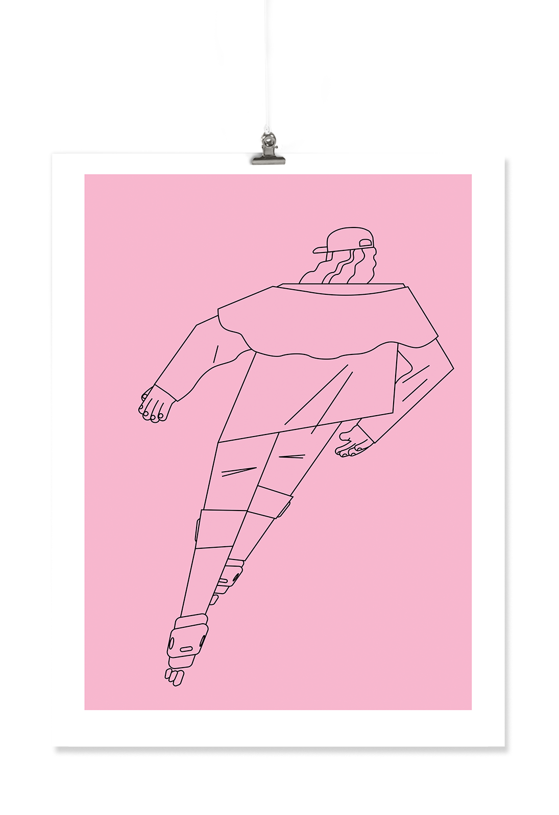 Image of Skater Dude Risograph