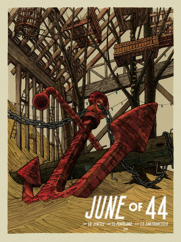 """Image of June of 44 (2019 West Coast Dates) • L.E. Official Poster (18"""" x 24"""")"""