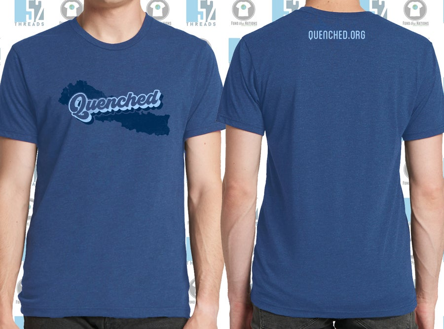 Image of QUENCHED Tee- Vintage Royal