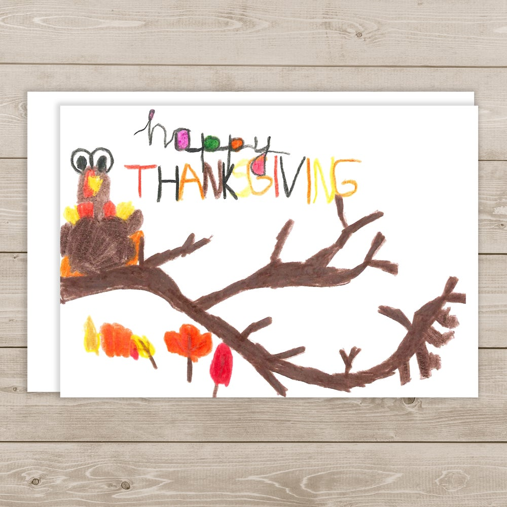 Image of Happy Thanksgiving note card