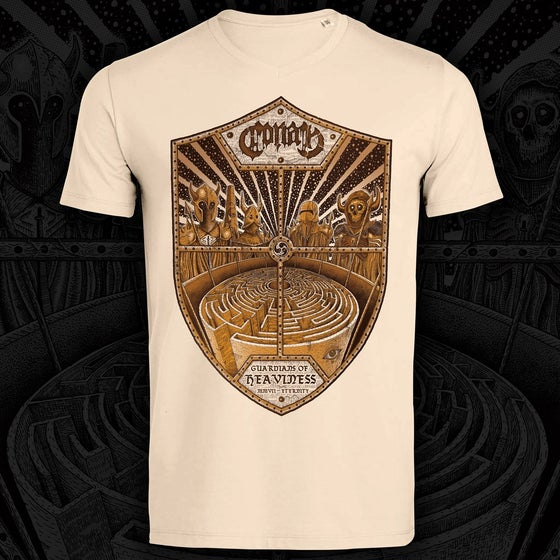 Image of NEW DESIGN - Guardians of Heaviness T Shirt BEIGE
