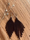 All Black Short Fringe Earring