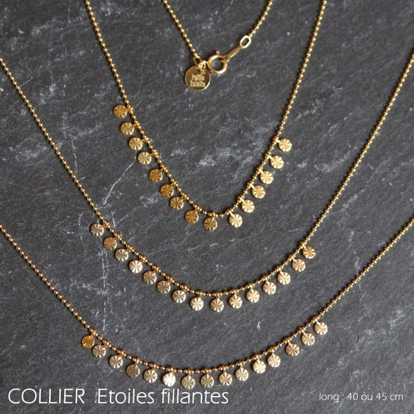 Image of COLLIER Etoiles Filantes